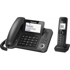 Ασύρματο Τηλέφωνο Με Σταθερή Συσκευή Duo Panasonic KX-TGF310